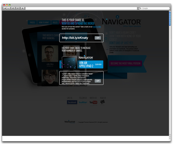 Navigator – A Promotion Campaign 2012